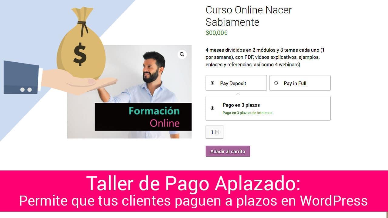 Taller de Pago a Plazos en WordPress: Cómo hacer que tus clientes puedan pagar a plazos en tu WooCommerce